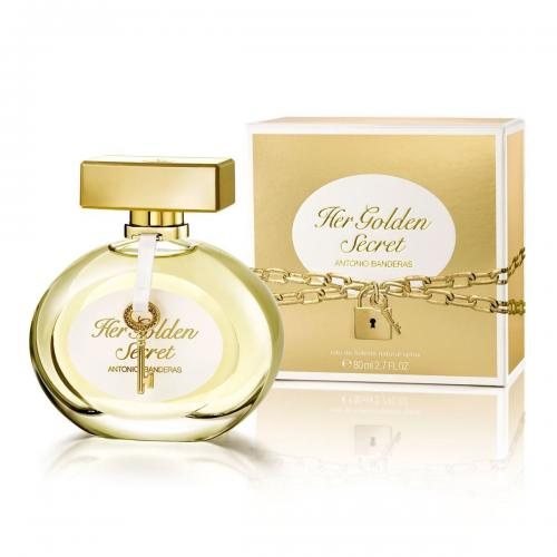 foto ANTONIO BANDERAS HER GOLDEN SECRET EDT FEM 80ML